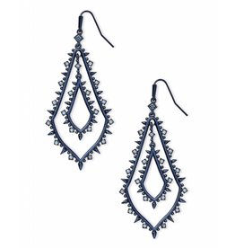 Kendra Scott Alice Earrings in Navy Gunmetal