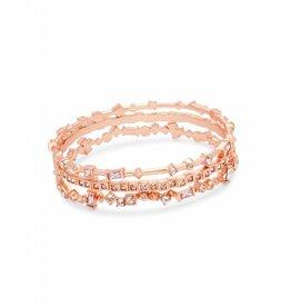 Kendra Scott Malia Bracelet in Blush Mix on Rose Gold