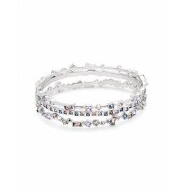 Kendra Scott Malia Bracelet in Lilac Mix on Silver