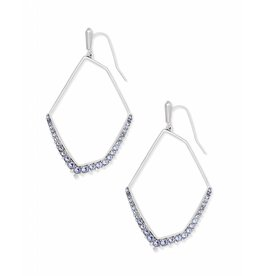 Kendra Scott Nell Earring in Lilac Crystal on Silver