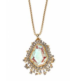 Kendra Scott Daenerys Necklace in Dichroic Glass on Gold