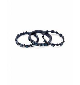 Kendra Scott Karis Ring Indigo Dichroic Glass on Navy Gunmetal - Size 7