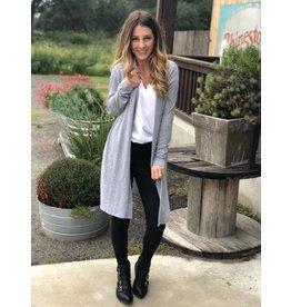 Sweater Cardigan in Heather Gray