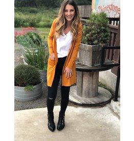 Sweater Cardigan in Desert Mustard