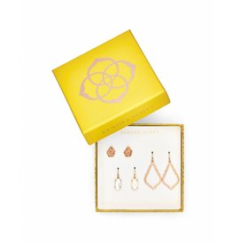 Kendra Scott Gift Set Rose Gold Drusy
