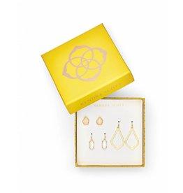 Kendra Scott Gift Set Gold Iridescent Drusy