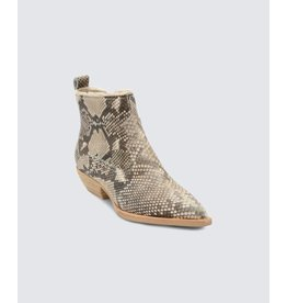 Dolce Vita Unity Snake Print Embossed Leather Bootie