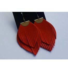 Lavish Leathers Flutter Earrings
