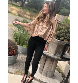 Free People Shimmy & Shake Top in Champagne