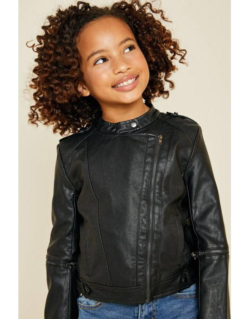 Tween Black Faux Leather Moto Jacket