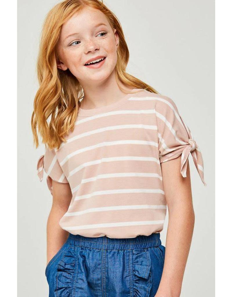 Girls Indian Pink Stripe Top