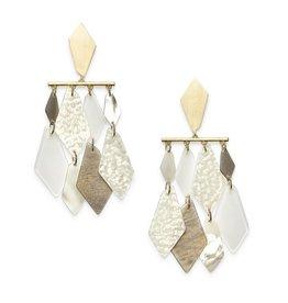 Kendra Scott Hanna Earring Gold Ivory Mix