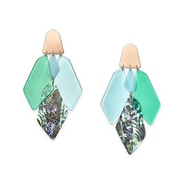 Kendra Scott Gracie Earring Rose Gold Abalone Mix