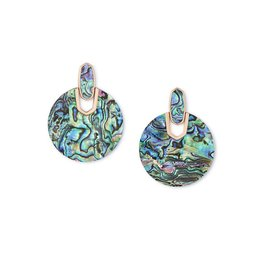 Kendra Scott Didi Earring Rose Gold Abalone