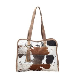 Cowhide Tote Bag Stripes CH164