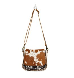 Cowhide Crossbody Bag Small Flap Over Hairon CH215