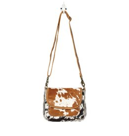 Cowhide Cross Body with Flap & Pocket CH256