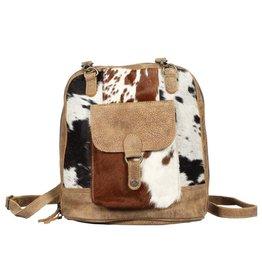 Cowhide Backpack Bag Leathered Pocket CH371