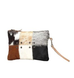 Cowhide Button Patch Bag CH0988