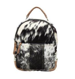 Cowhide Backpack Bag Compact
