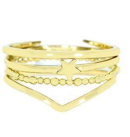 Pura Vida Retreat Ring Stack- Gold