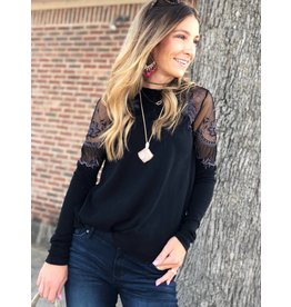 Free People Free People Daniella Top in Black