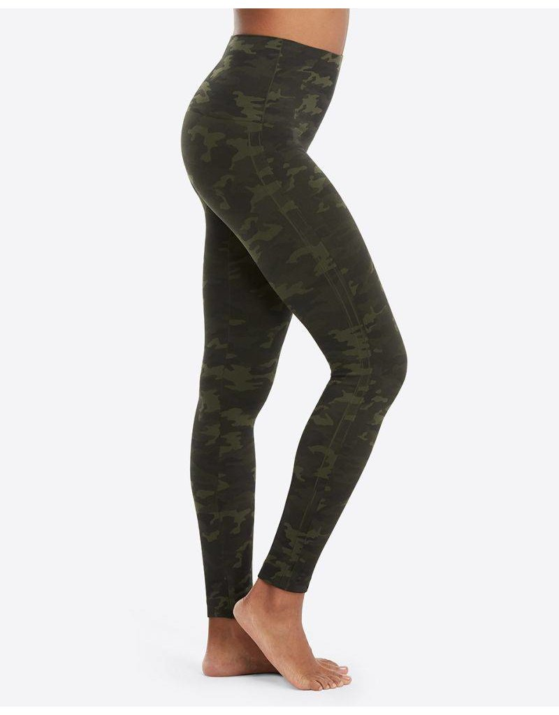 Spanx Look At Me Now Leggings - Green Camo
