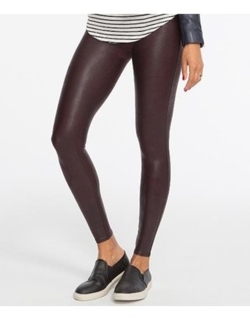 Spanx Faux Leather Leggings Wine