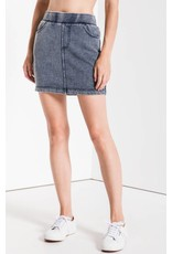 Denim Knit Mini Skirt