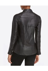 Spanx Faux Leather Moto Jacket Very Black