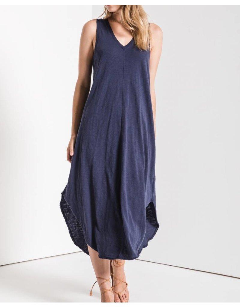 Z Supply Midi Dress- Navy