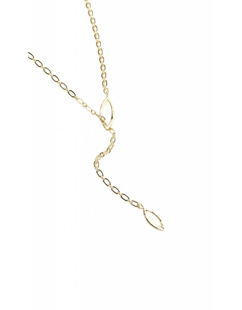 Natalie Wood So Lovely Threading Necklace - Gold