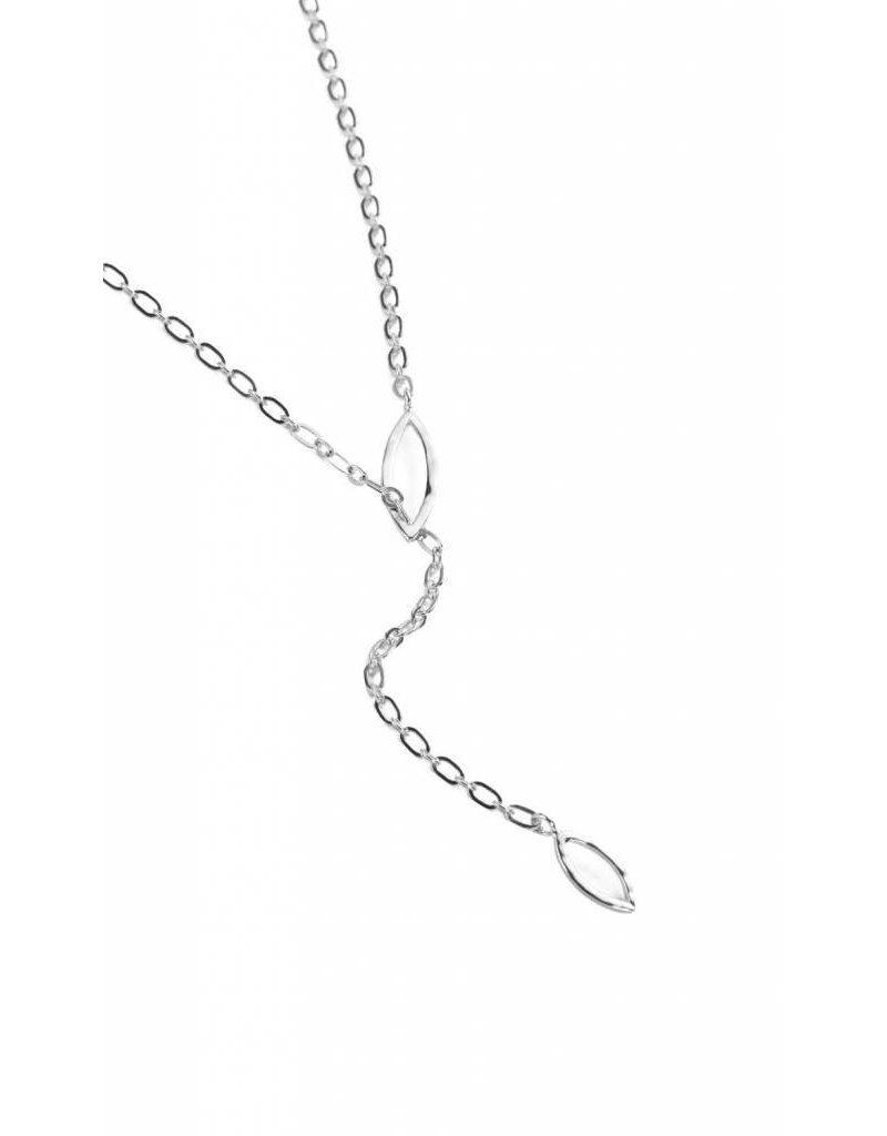 Natalie Wood So Lovely Threading Necklace - Silver