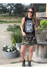 Black Whiskey Weekend Lace Tank