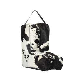 Cowhide Boot Bag Black & White