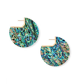 Kendra Scott Kai Earring Rose Gold Abalone Shell