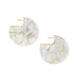 Kendra Scott Kai Earring Gold Ivory Pearl