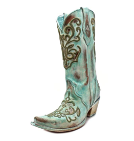 Corral Corral Tall Turquoise Stitch Boots- C2990