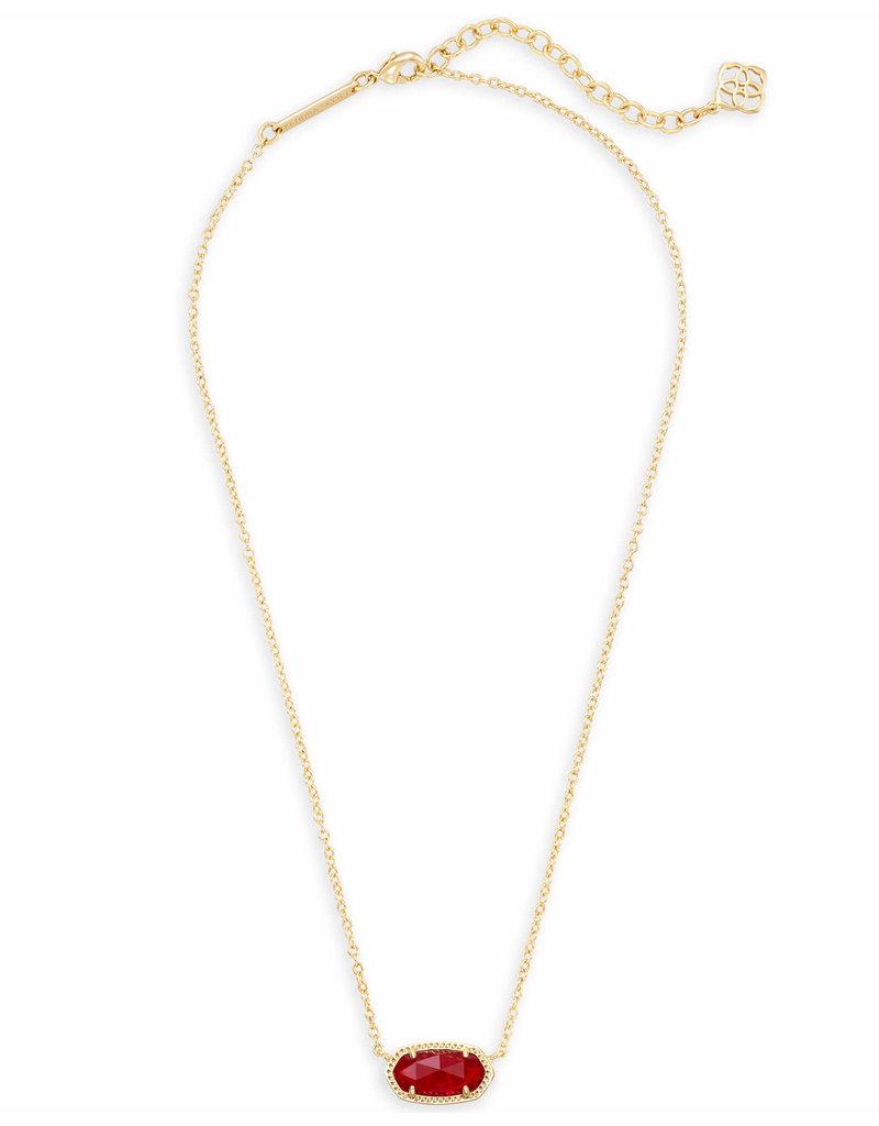 Kendra Scott Kendra Scott Elisa Necklace Gold Ruby (July)
