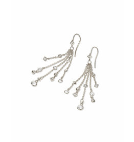 Kendra Scott Wilma Drop Earrings in Silver