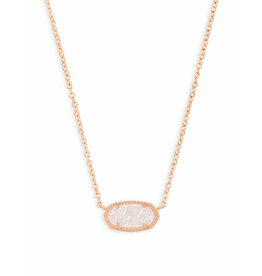 Kendra Scott Kendra Scott Elisa Necklace Rose Gold Iridescent Drusy