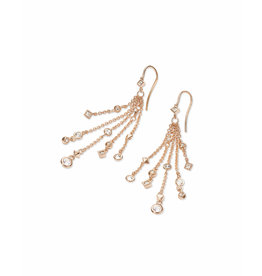Kendra Scott Wilma Drop Earrings in Rose Gold