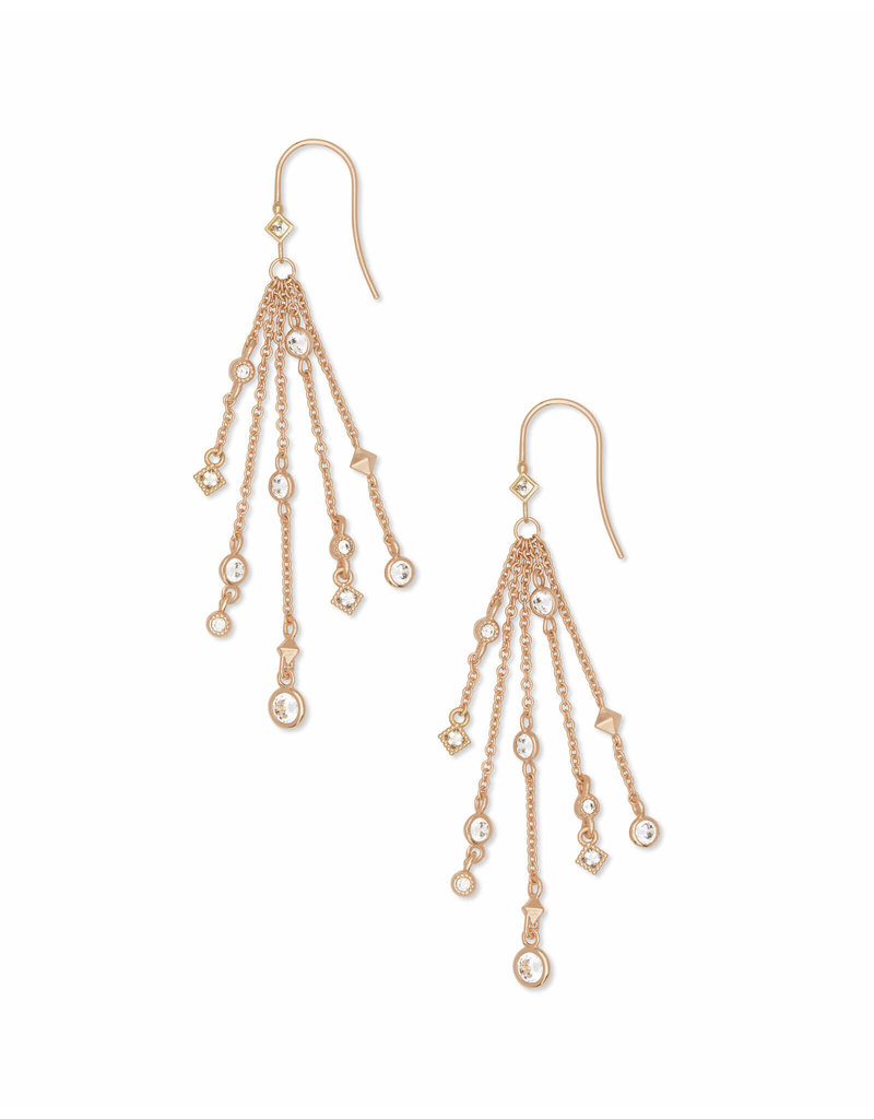 Kendra Scott Wilma Drop Earrings in Rose Gold