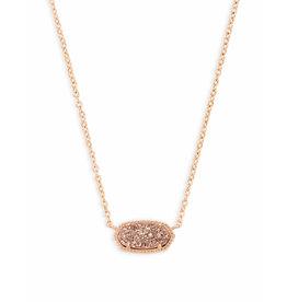 Kendra Scott Kendra Scott Elisa Necklace Rose Gold Drusy