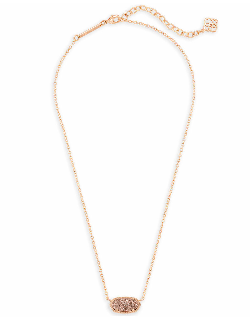 Kendra Scott Kendra Scott Elisa Necklace Rose Gold Drusy