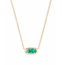 Kendra Scott Kendra Scott Elisa Necklace Gold Emerald (May)