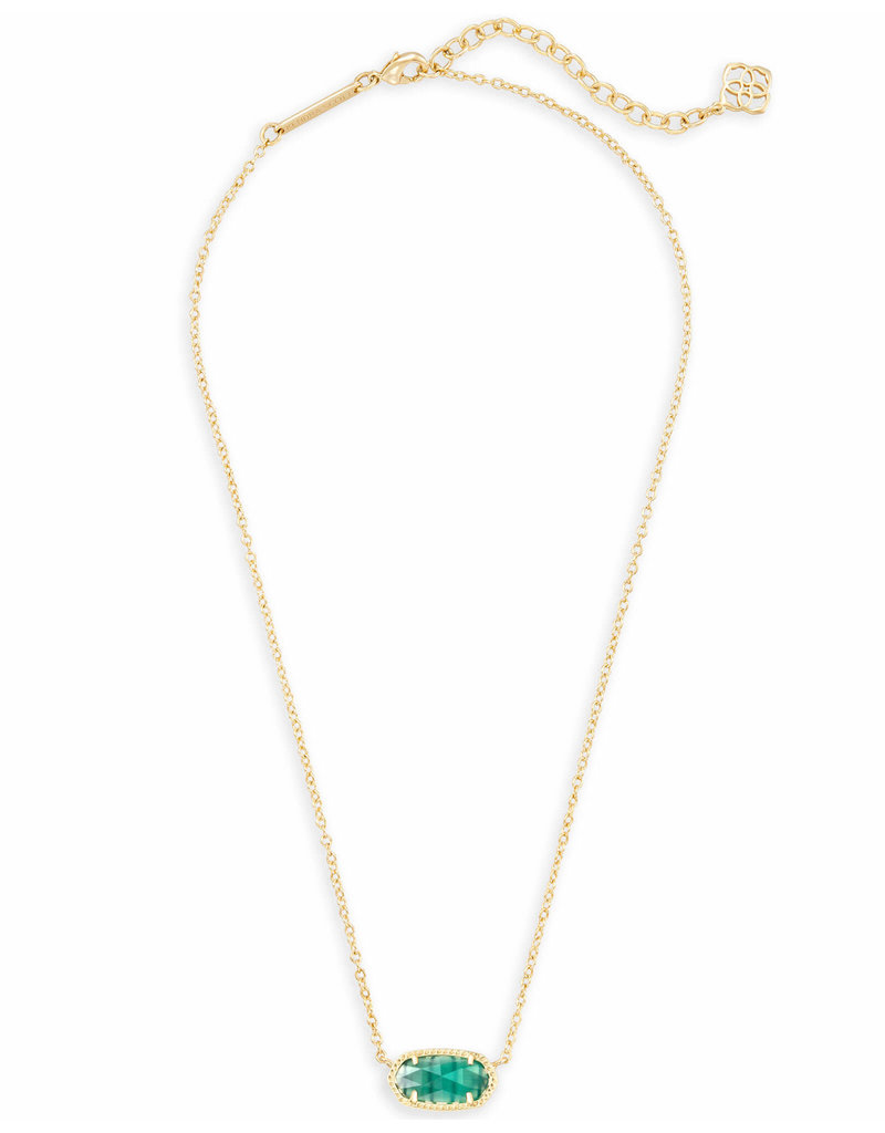 Kendra Scott Elisa Necklace Gold Emerald May