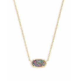 Kendra Scott Elisa Necklace Gold Multi Drusy