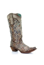 Corral Taupe Inlay & Studs Boots C3409