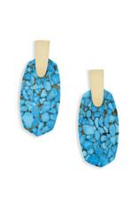 Kendra Scott Kendra Scott Aragon Earring Bronze Veined Turquoise